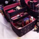 帶隔層手提化妝箱大容量「時尚彩虹屋」