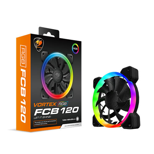 COUGAR 美洲獅 VORTEX RGB FCB 120mm 散熱風扇 (CF-V12FB-RGB)