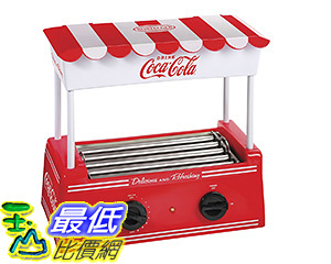 [106 美國直購] Nostalgia HDR565COKE 復古懷舊 可口可樂熱狗機 麵包機 Coca-Cola Hot Dog Roller with Bun Warmer