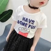女童T恤2019夏裝新款中小兒童韓版洋裝寬松短袖上衣衣服女孩潮衣