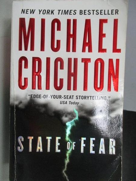 【書寶二手書T1/原文小說_MRV】State of Fear_Michael Crichton