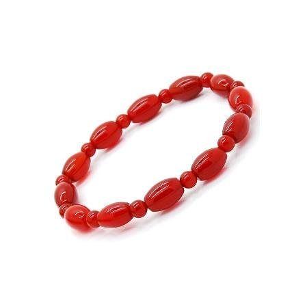 水晶紅瑪瑙手鏈橢圓形女士款