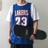 夏季籃球衣假兩件背心潮流t恤短袖男學生韓版寬鬆半袖情侶裝上衣 【ifashion·全店免運】