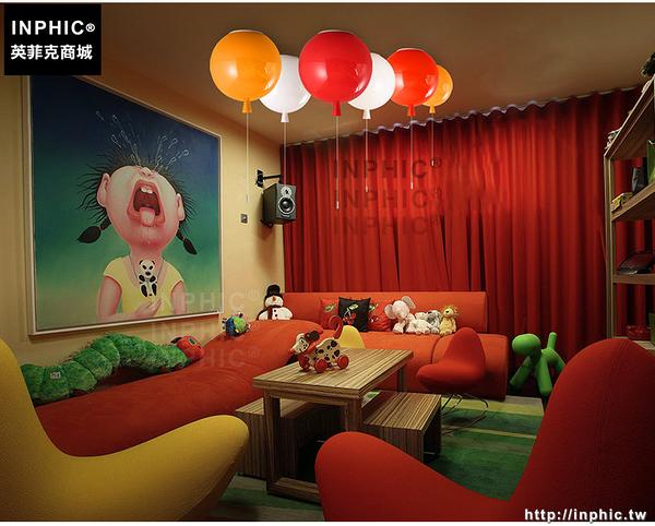 INPHIC- 彩色氣球燈吸頂燈現代簡約創意臥室床頭幼稚園卡通兒童房間吸頂燈-M款_S197C