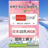 【亞洲通】日本10天(6GB)上網卡(軟銀/高速/即插即用/免設定)