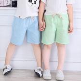 兒童短褲夏薄款寶寶2019夏裝童裝五分褲子男童中褲女童沙灘打底褲