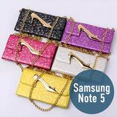 SAMSUNG 三星 Note 5 高跟鞋錢包三折皮套 插卡 側翻 手機套 手機殼 保護套 配件