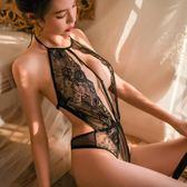 性感情趣內衣開襠免脫連體衣透明睡衣