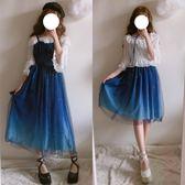 金豬迎新 夏季軟妹風星空吊帶jsk連身裙lolita公主洋裝日常仙女伴娘小禮服