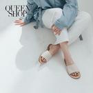 Queen Shop【05090169】簡約好感配色平底拖鞋 36-40*現+預*