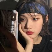 髮帶 2020年新款韓國INS街頭復古水墨扎染頭巾針織發帶學生男女款 夢藝家