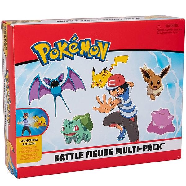 [9美國直購] Pokemon 精靈寶可夢 戰鬥人物多件裝玩具套裝 Battle Figure Multi Pack Toy Set with Launching Action