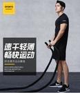 夏季運動健身套裝男跑步健身服短袖T恤健身房訓練裝備寬鬆兩件套  快速出貨
