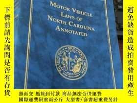 二手書博民逛書店MOTOR罕見VEHICLE LAWS OF NORTH CAROLINA ANNOTATED (2003 edi