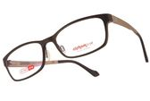 Alphameer 光學眼鏡 AM3505 C114 (棕-淺咖啡) 記憶塑鋼簡約方框款 平光鏡框  #金橘眼鏡