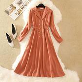 【GZ81】連身裙洋裝 秋裝新款女網紅氣質韓版穿搭禦姐輕熟風修身顯瘦西裝連衣裙夏