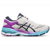 Asics GEL-Kayano 26 [1012A457-100] 女鞋 運動 慢跑 輕量 亞瑟士 舒適 緩衝 白藍