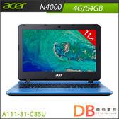 acer A111-31-C85U 11.6吋 N4000 HD筆電 (6期0利率)-送acer無線滑鼠