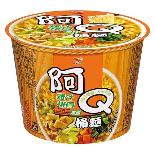 阿Q桶麵雞汁排骨風味107Gx3桶/組【愛買】