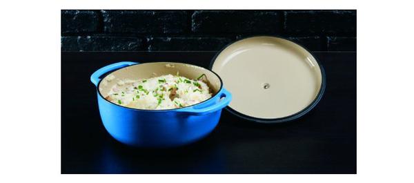 丹大戶外【LODGE】EC4D33 Enamel 4.6QT 琺瑯鑄鐵鍋 荷蘭鍋/平底煎鍋/造型模具 藍