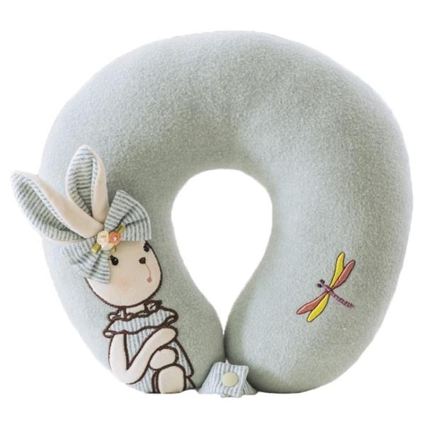 卡通可愛兔子少女心u型枕車載辦公午休枕護頸旅行辦公室u形枕頭