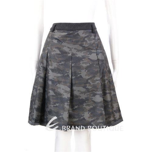 MAX MARA-WEEKEND 迷彩圖騰抓褶及膝裙 1240343-08