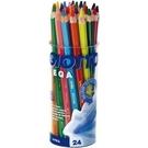 【義大利 GIOTTO】519700  MEGA六角胖彩色鉛筆(12色24支裝) /筒