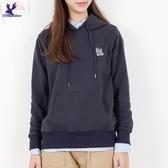 【秋冬新品】American Bluedeer - 英文刺繡長袖帽T 二色
