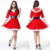 聖誕服裝女裙子可愛冬性感舞會cos成人服飾演出服冬衣服老人節帽 爾碩數位3c
