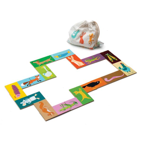 【美國Tender Leaf Toys】可愛動物拼圖組(頭尾接龍西洋骨牌)