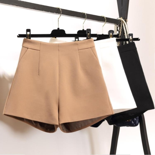 雪紡短褲 新款外穿雪紡短褲女夏寬鬆高腰白色西裝寬管褲休閒顯瘦a字褲-Ballet朵朵