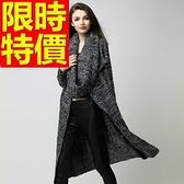 針織外套 長版-亮麗非凡雅緻羊毛開襟女針織衫2色63l14[巴黎精品]
