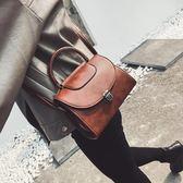 手提包 - 復古單肩斜挎定型手提包
