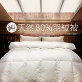 【艾倫生活家】台灣製純天然80%頂級羽絨被(單人5*7尺)單人150*210 CM