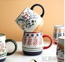 舍里日式小清新陶瓷馬克杯咖啡杯情侶喝茶水杯陶瓷杯子牛奶早餐杯 3C優購