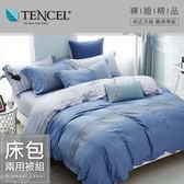 【貝兒居家寢飾生活館】100%萊賽爾天絲兩用被床包組(雙人/威爾斯)