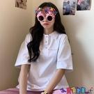 短袖POLO衫 可愛日系polo衫不二家超火短袖t恤女學生寬鬆潮上衣寶貝計畫 上新