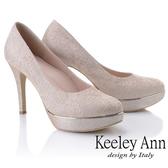 ★2019春夏★Keeley Ann耀眼新娘 清新氣質加高防水底台高跟鞋(玫瑰金色)