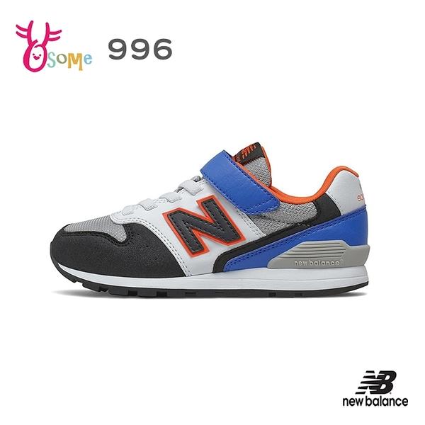 New Balance童鞋 男童運動鞋 996童 NB童 魔鬼氈跑步鞋 透氣 耐磨 寬楦 慢跑鞋 大童 P8550#白藍