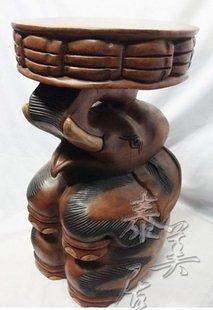 南亞風格 泰式工藝品 柚木家具 泰國木雕家具 木雕大象凳子