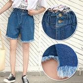 【K.W.牛仔】(預購)韓系清新百搭毛邊造型牛仔褲