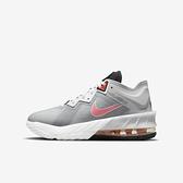 Nike Lebron XVIII Low GS [DJ3760-005] 大童 籃球鞋 怪物奇兵 緩震 雙色 灰粉