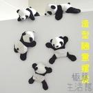 冰箱貼毛絨熊貓磁性貼可愛禮物磁貼【極簡生...