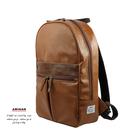 棕色-正氣皮革後背包  AMINAH~【am-0309】