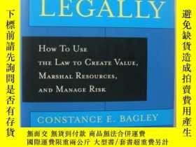 二手書博民逛書店WINNING罕見LEAGALLY:How to Use the