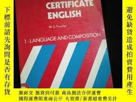 二手書博民逛書店FIRST罕見CERTIFICATE ENGLISH (英文)Y16149