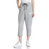 Nike NSW AV15 PANT 女 灰 九分寬褲 運動長褲 休閒褲 棉褲 休閒 884411063