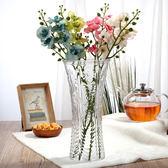 玻璃透明花瓶擺件客廳富貴竹花瓶水培插花花瓶大號【非凡】