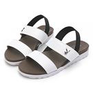 PLAYBOY 簡約素色一字涼拖鞋-白(Y6298)