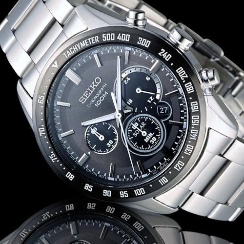 SEIKO Criteria 極速狂風太陽能計時腕錶 V175-0DK0G SSC467P1
